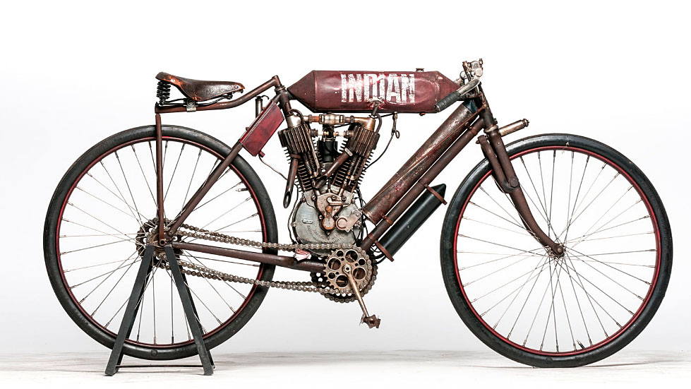 indian motorcycle racer 1908