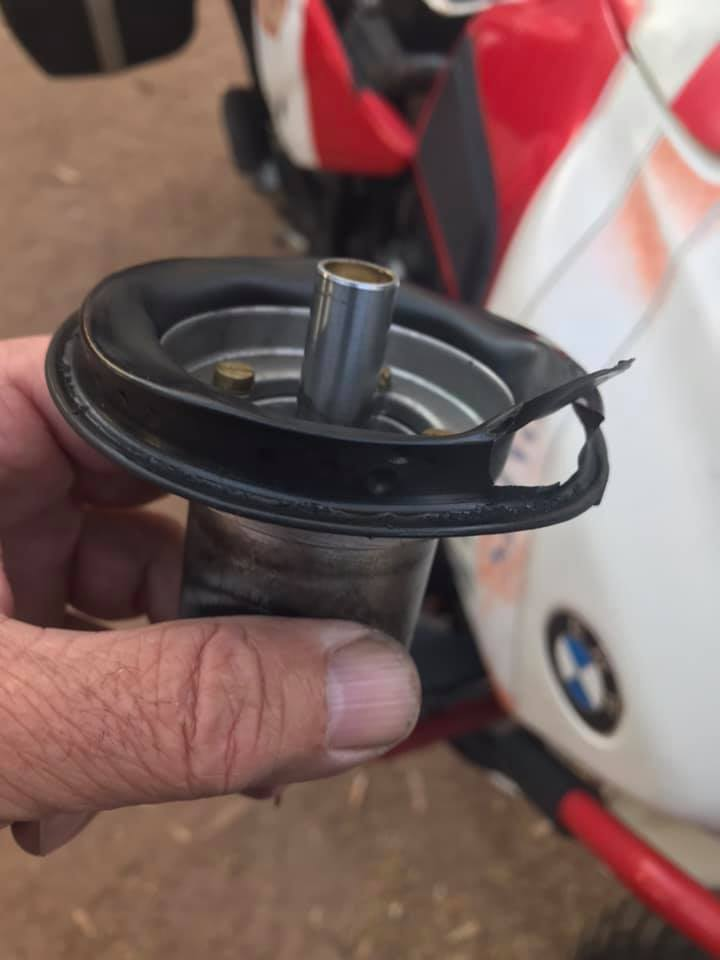 BMW R100GS carb slide